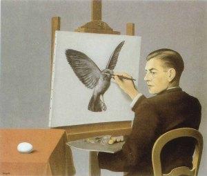 La Clairvoyance, René Magritte (1936)